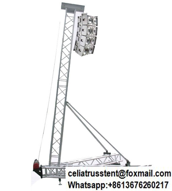 Line array speaker tower truss stand