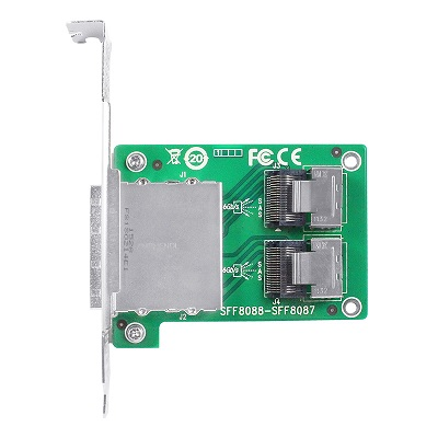 Linkreal PCIe 2 Port SFF 8088 to Internal SFF 8087 Transfer Card sff 8087 to sff 8088