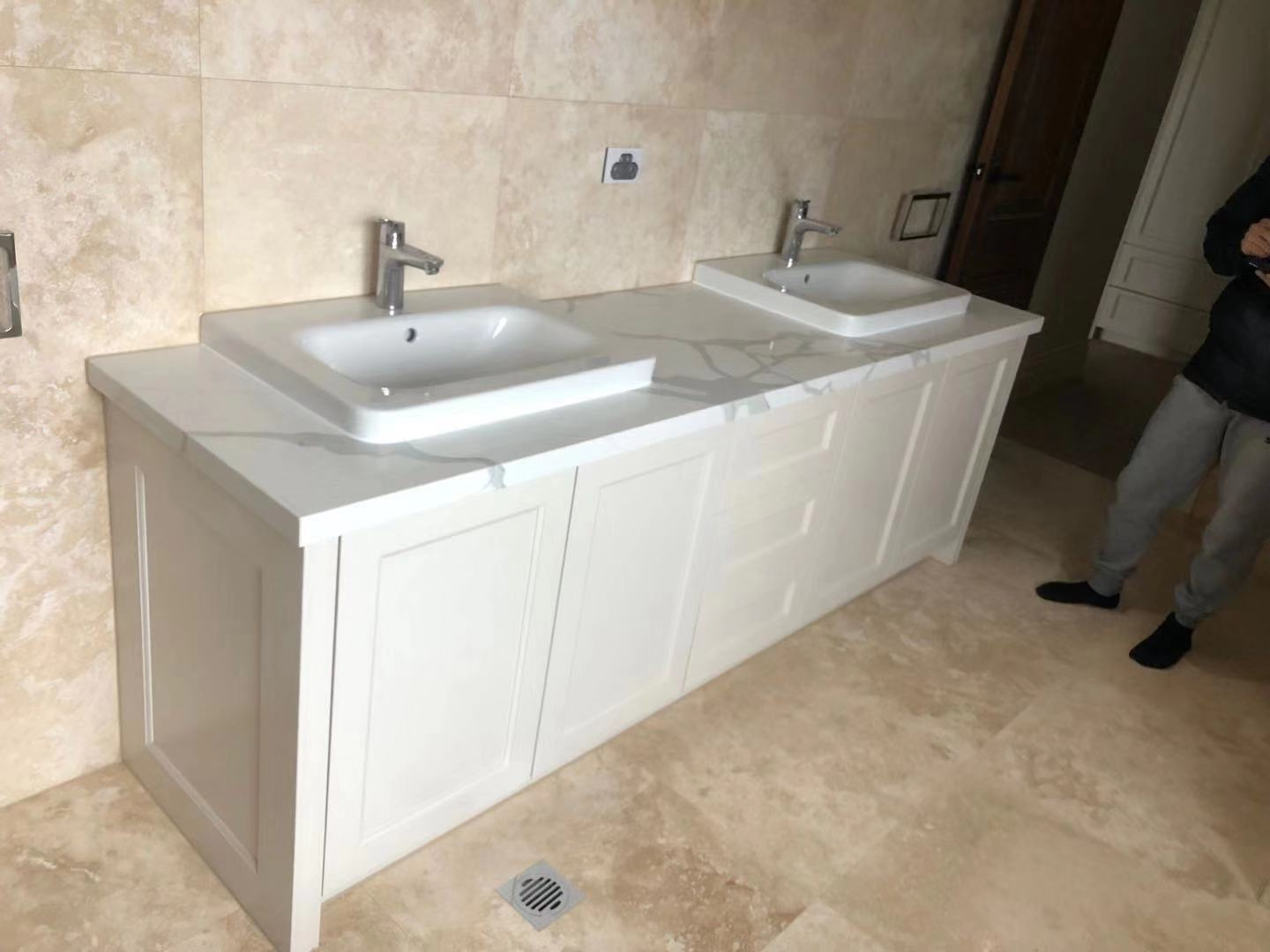 Foshan Weimeisi Chinese White Marble Kitchen Countertop for Residential Building