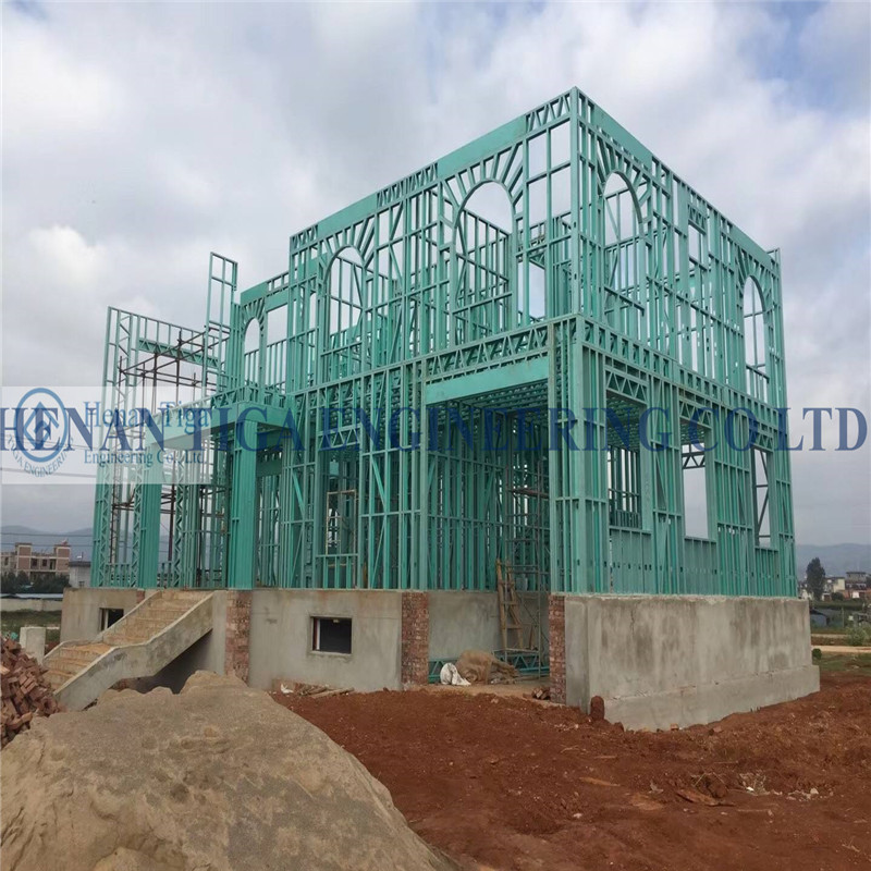 Tiga Factory Supply Modern Design High Quality Low price Prefabricated Light Steel Structure Houses