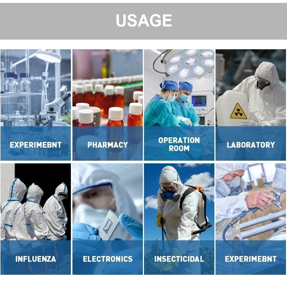 Disposable Hospital Coverall Microporous Safety Protective Clothing Medical Isolation Suit