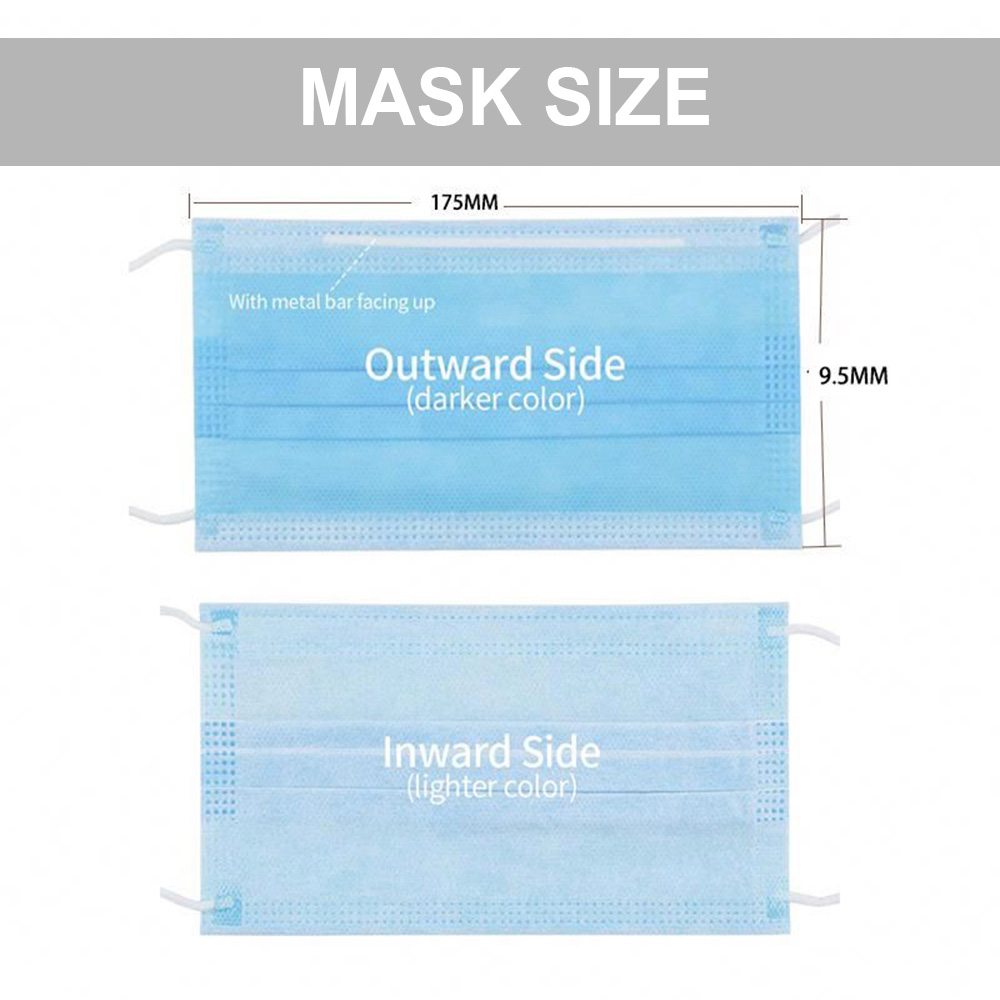 Disposable Surgical Face Mask 3 PLY Earloop Non Woven with CE FDA ISO