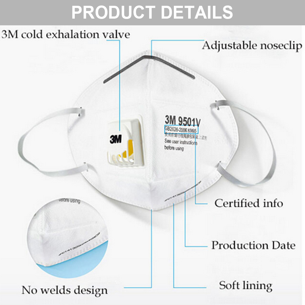 Valved 3M Particulate Respirator 9541V KN95 with Valve