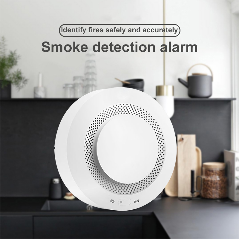 Battery operated Home security Wireless Smoke Detector Fire alarm system