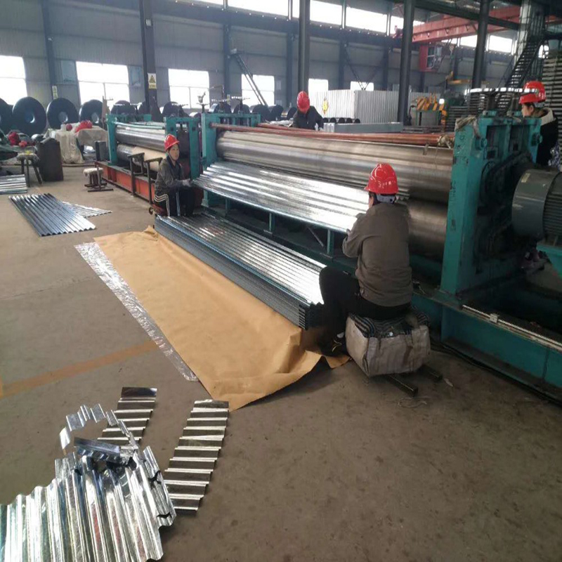 012mm Thickness Regular Spangle 9 Waves HDG Corrugated Roofing Sheets