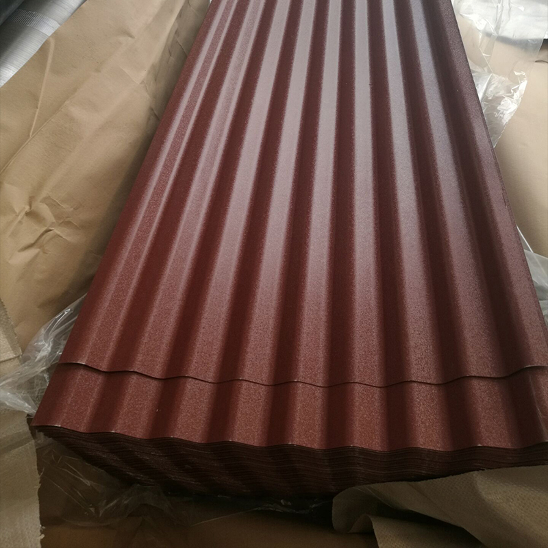 OEM Commercial RoofsColoured Corrugated Roofing Sheet with Felt