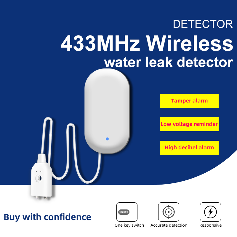 Wireless 433mhz Water Leakafe Detector