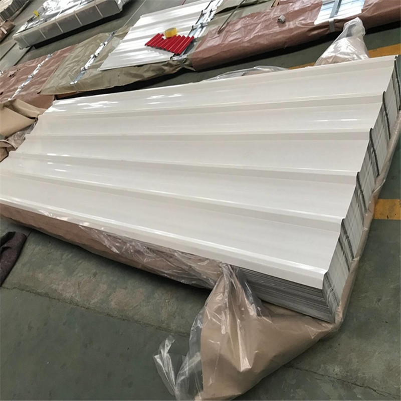China Supplier 017mm Thickness Color Coated Trapezoidal Metal Roof Tile