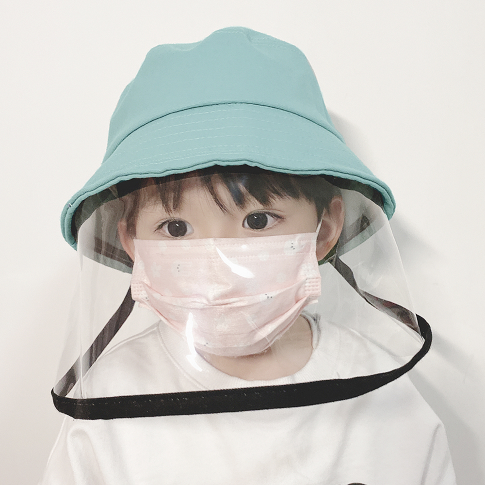 Kids Sun Hat With Isolation Mask Protective Hat Face Shield Fisherman With Facial Cover