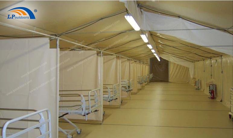 Aluminum frame marquee tent for Coronavirus isolation