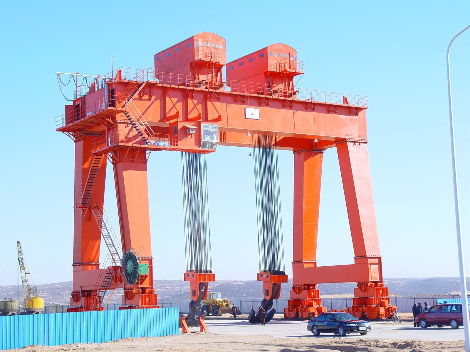 Gantry crane also called gantry crane