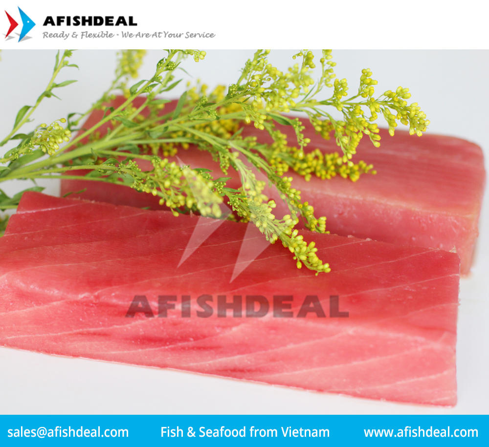 TUNA YELLOWFIN SKIPJACK BONITO LOIN STEAK CUBE SLICE WHOLE ROUND HEAD TAIL CO