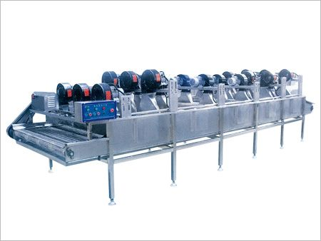 Fruit and vegetable airdrying line strong current dryer