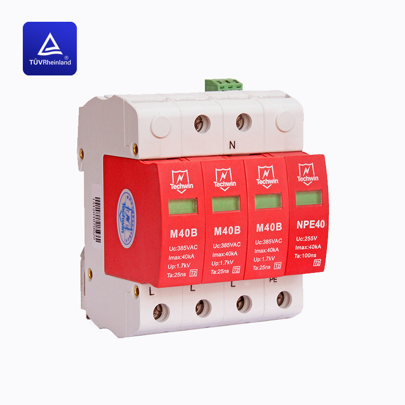 40kA Class C surge protection deviceSPDTUV certificated for Threephase 380V AC system