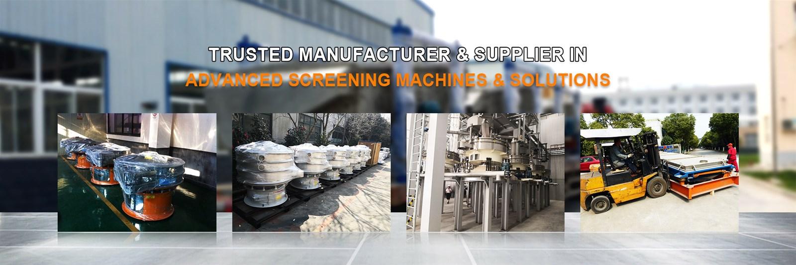 Navector high capacity tumbler screen for food powder separating