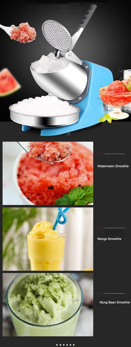 Weifeng WFA109F Commercial Mini Ice Shaver Ice Smashing Electric Crusher Machine with CE FDA Cerficates