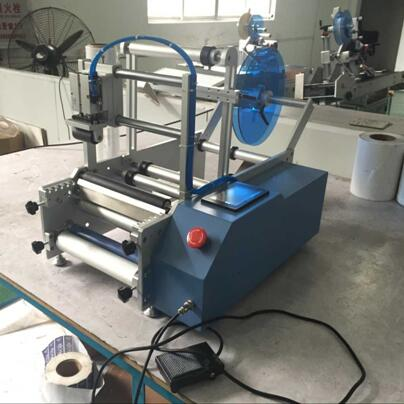 semi automatic round bottle labeling machine