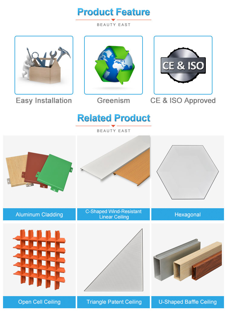 Easy to install hottest aluminum ceiling tiles produced by foshan professional factory