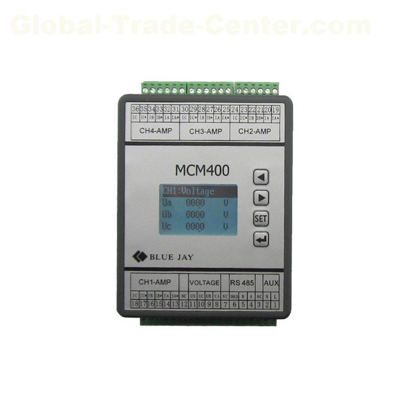 DCEM LCD display 4 channels dc energy meter battery bank UPS multicircuit dc power meter rs485