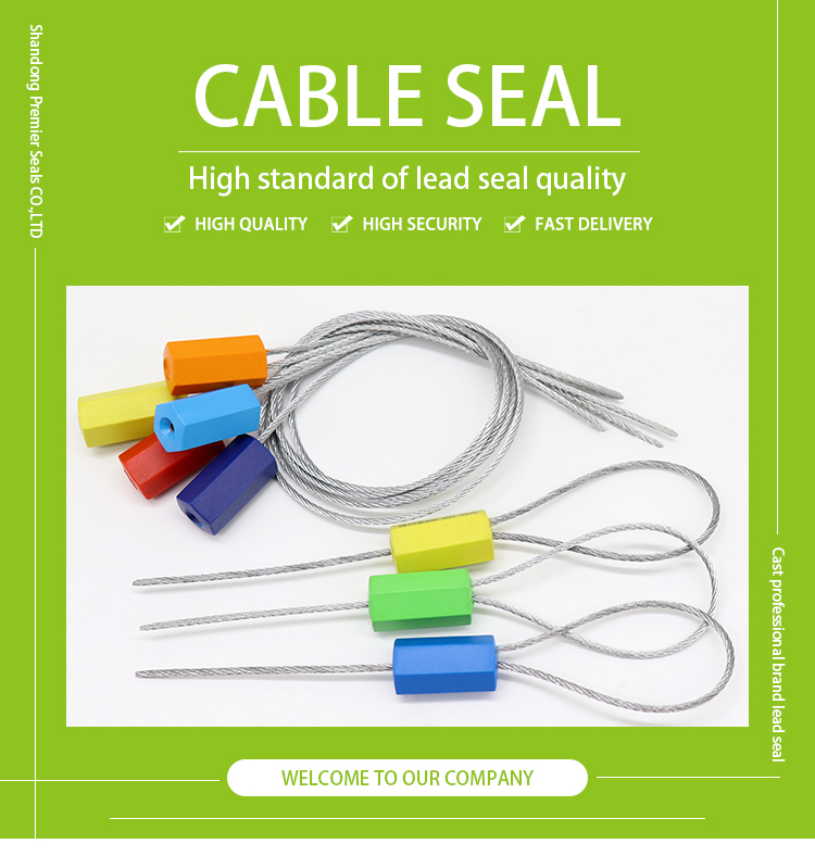 high security pull tight container metal hexagonal tamper proof wire cable seals
