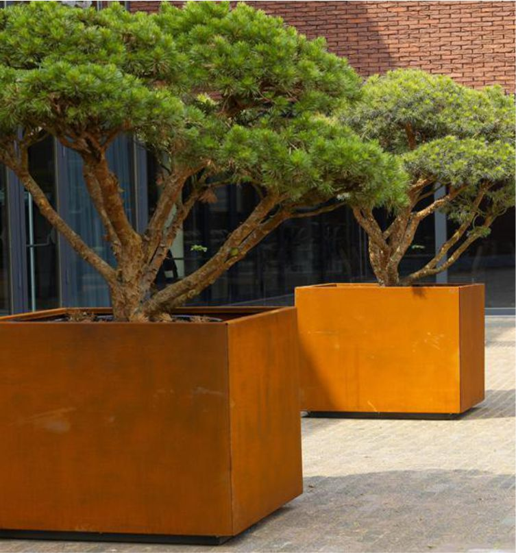 Corten steel Planter Stainless steel flowerpot
