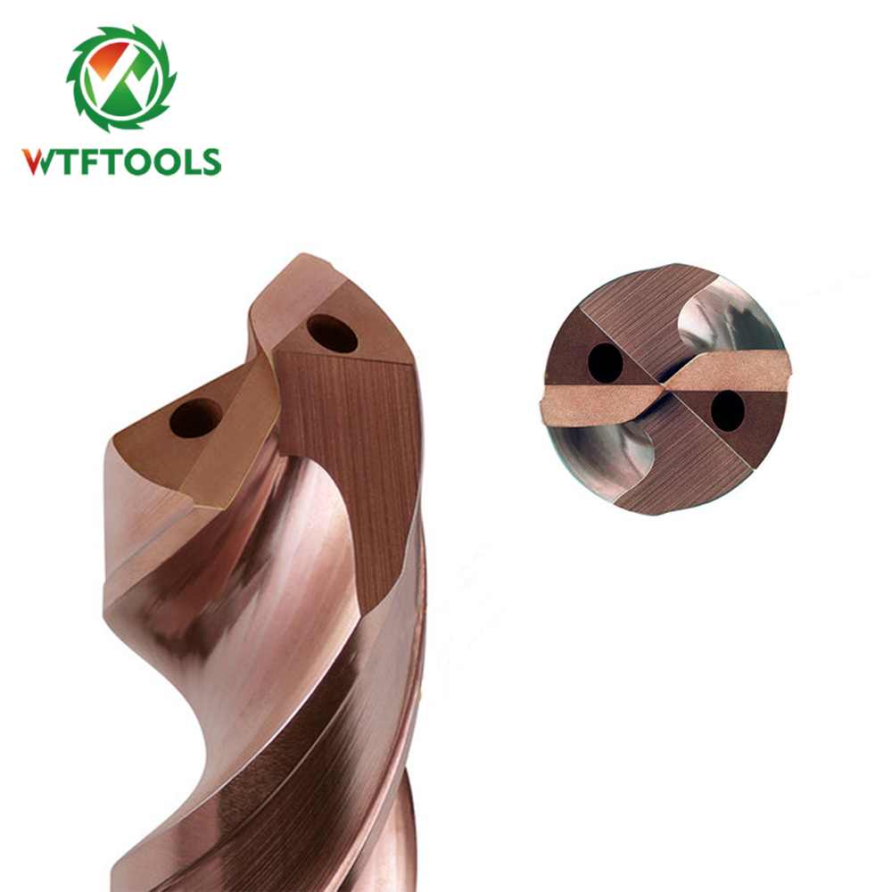 WTFTOOLS Internal Coolant 5xD 119mm Solid Carbide Twist Drill Bits