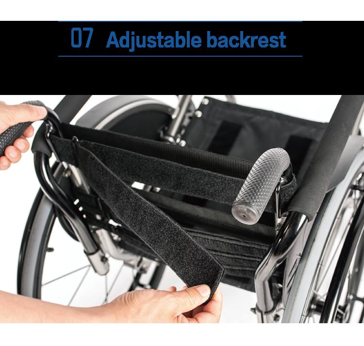 NA431 Leisure Sporty Active Wheelchair Super Lightweight Flexible Folding Wheelchair