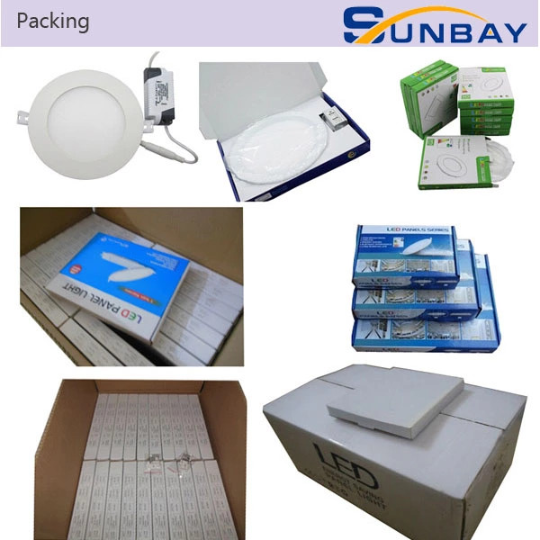 Round 3w 4w 6w 9w 12w 15w 18w 24w slim led panel light