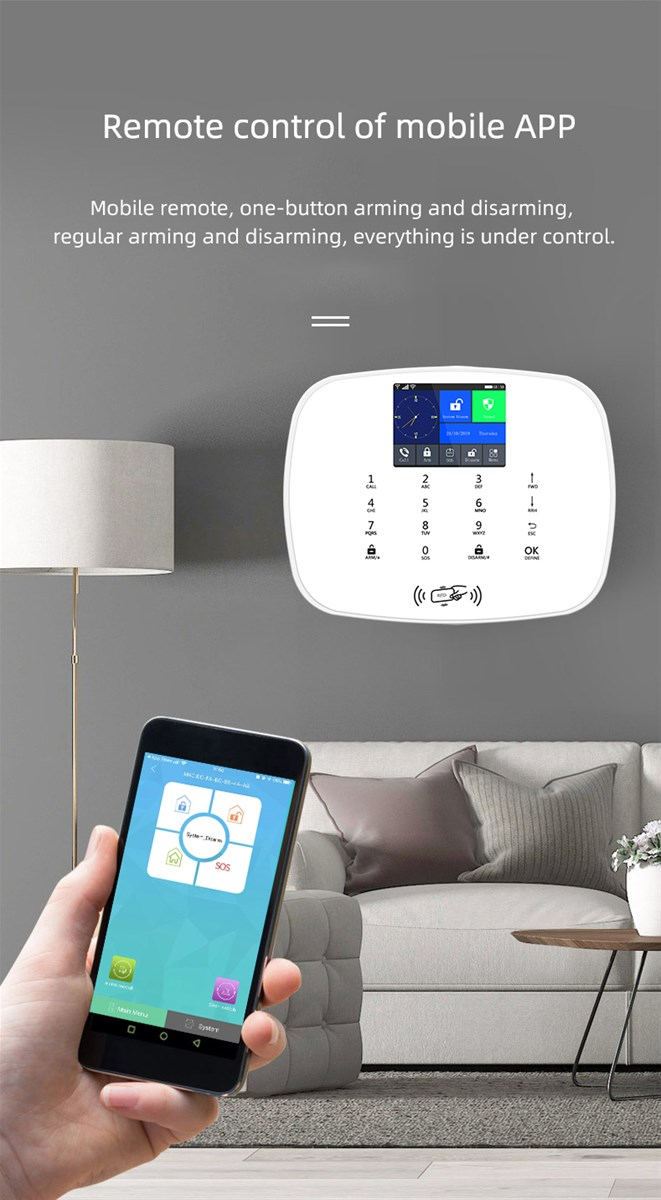 WiFi3G Security Camera Home Alarm System APP Live Video Remote Control Home
