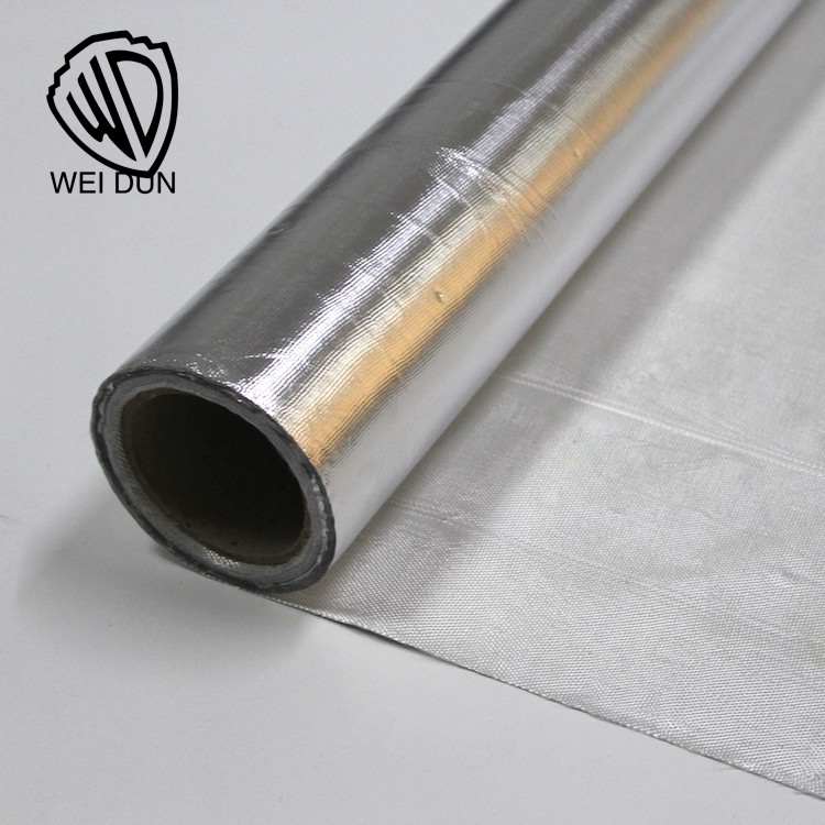 E glass fiber fabric fire proof Aluminum foil heat treated fiberglass cloth