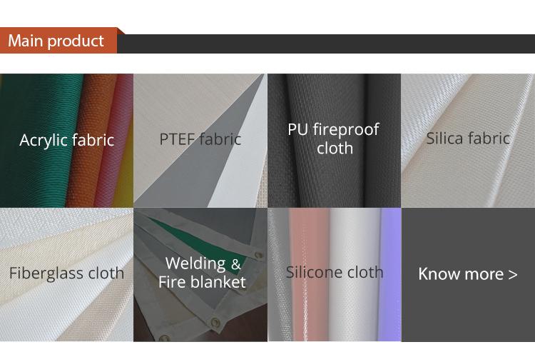 Good performance PU coating fiberglass insulating cloth fabricating