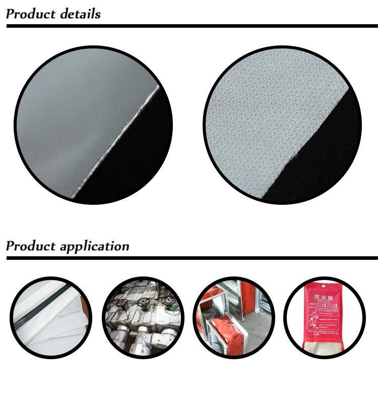 Good quality customized size polyurethane pu coated glass fiber fabric