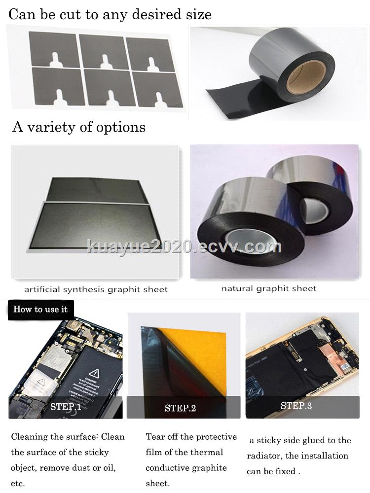 Hot sale high thermal material IC Graphite sheets rolls