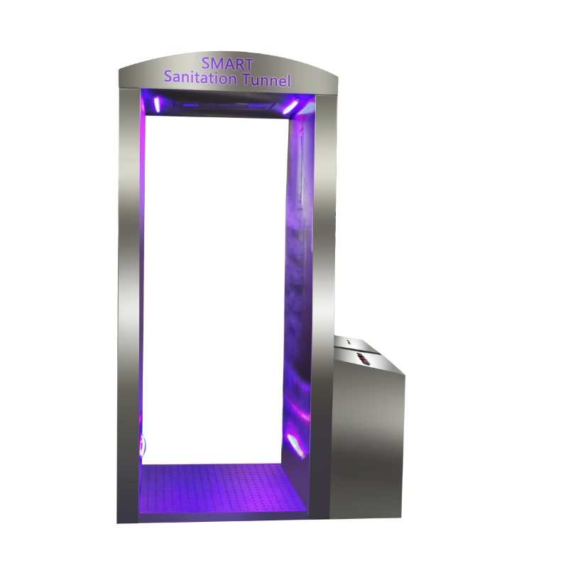 Intelligent Disinfection Channeldoor with UV Ozone Water Liquid disfectant Spray all body 720 degree disinfection