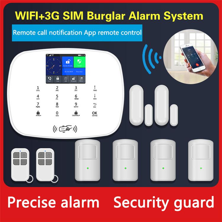 New design wifi gsm 3g wireless home burglar alarm system support tuya