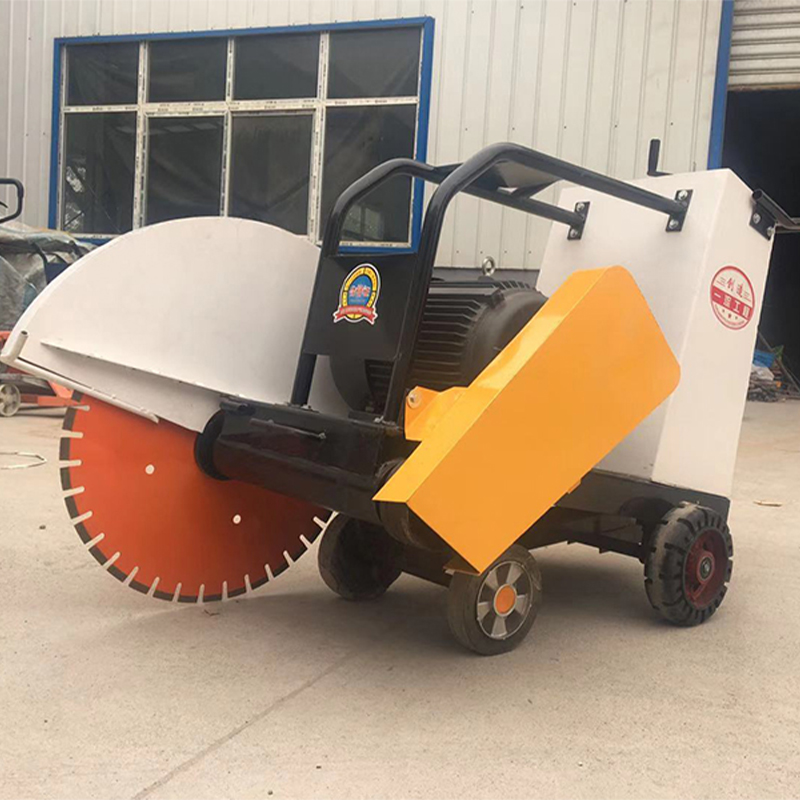 Walking behind concrete road floor cutting machine asphalt concrete pavement road cutting saw machinery with water tank