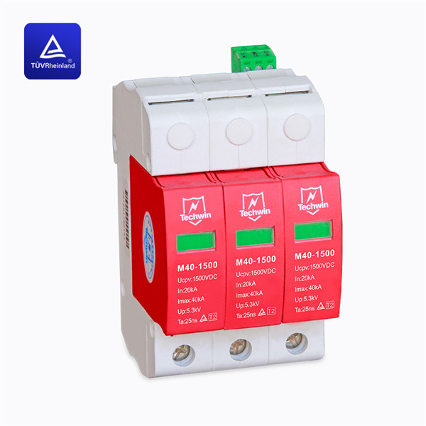 40kA Class C surge protection device SPD TUV certificated for Lower than 1500V DC PV system