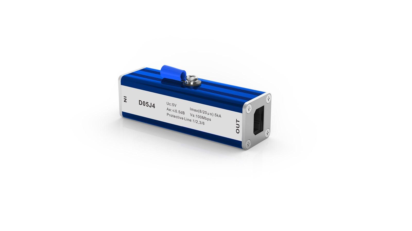 RJ45 Lightning ArresterSPDfor cat5e 100 BaseT Ethernet arrester