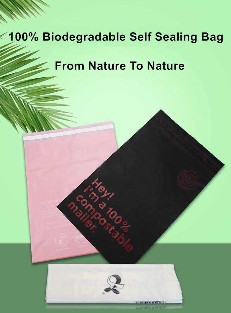 Wholesale non toxic corn starch 100 biodegradable cassava starch flat plain garbage bags