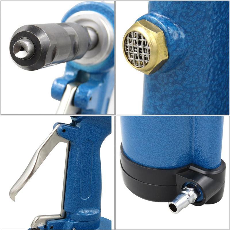 3claw Pneumatic Air Hydraulic Pop Rivet Gun Riveter Nail Nut Riveting Tool Industrial Grade