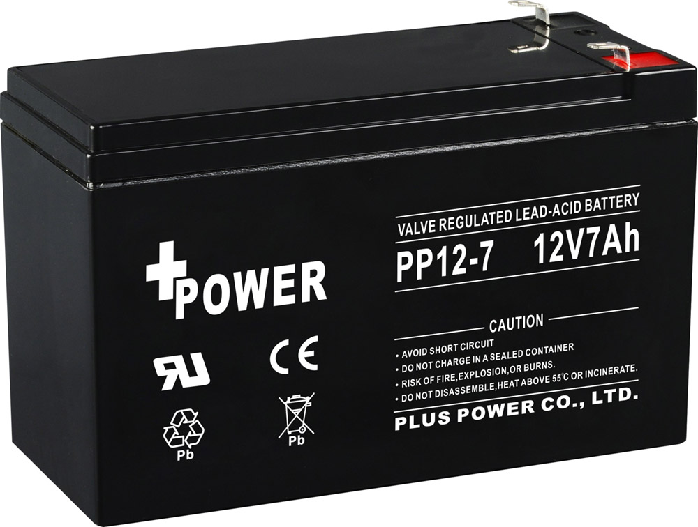 12V7AH rechargeable Batteries for UPS and automatic door