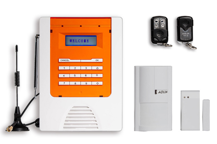 Aolin GSM Alarm System Infrared Magnetic Remote Control SMS Alarm Mobile Remote Control System