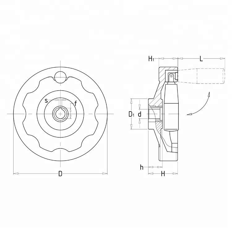 Cheap Price Huali Plastic Lathe Corrugated Handwheel
