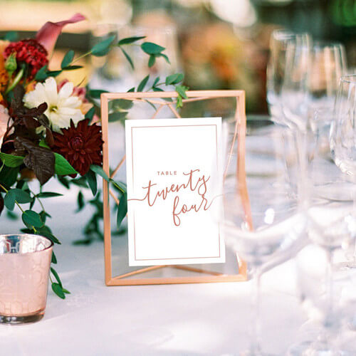 Centerpieces Geometric Floating Photo Frames