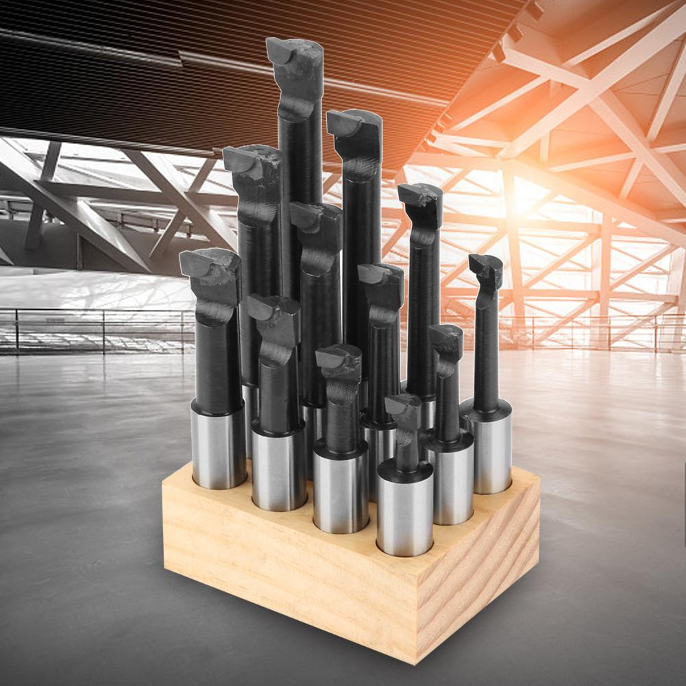F118mm12PCS Shank Boring Bar Set Carbide Tipped Bars Boring Tool HighSpeed Steel