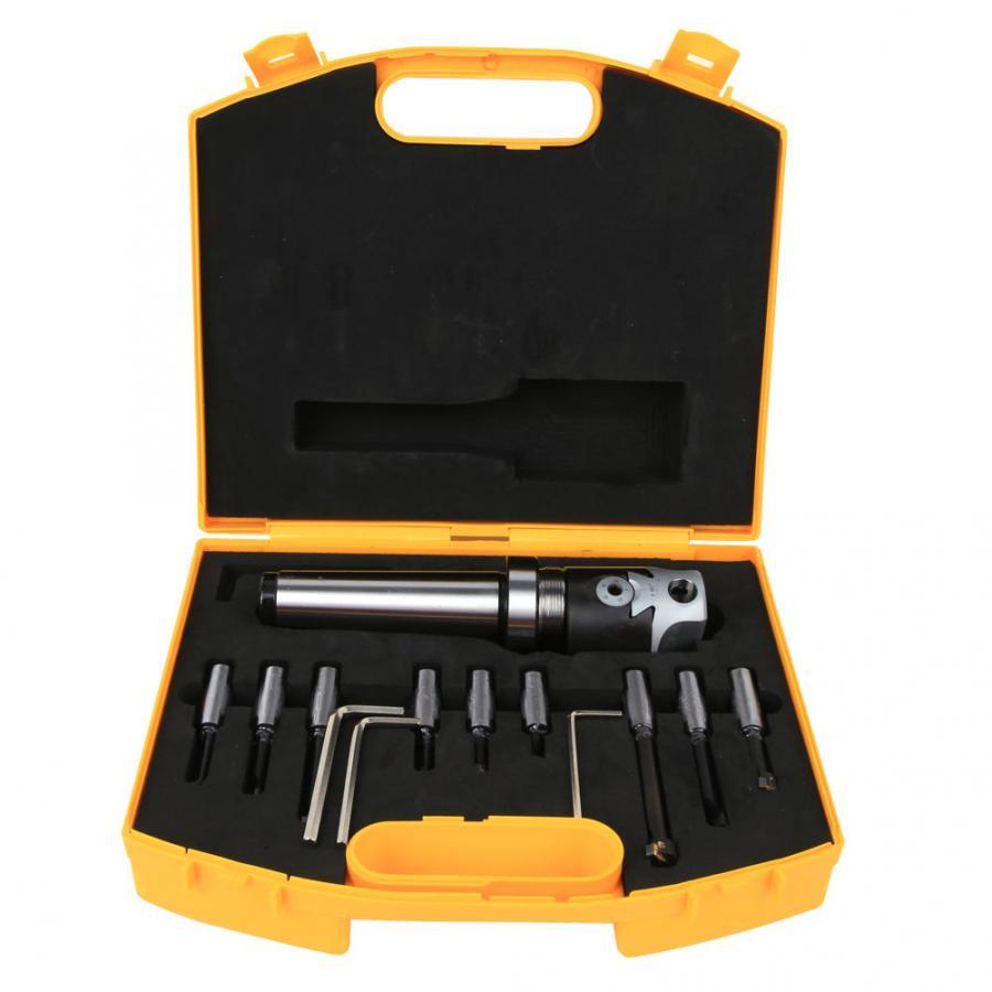 MT4F1129pcs Morse MT4 Boring Head Set F1Carbide Tip Boring Bar Set Shank Mill 1 DIV 0001