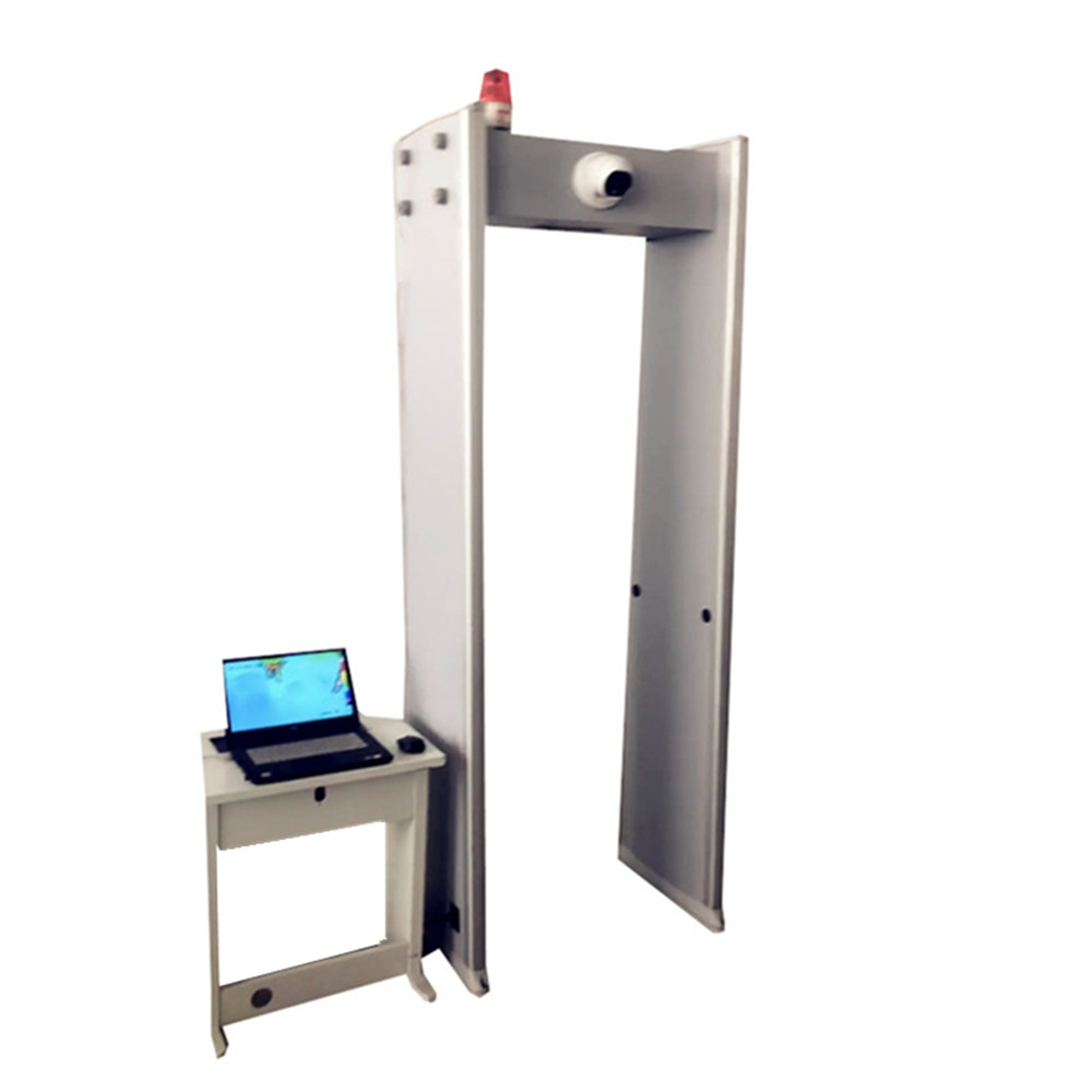 Walkthrough Metal Detector with Thermometry and Infrared Thermometer
