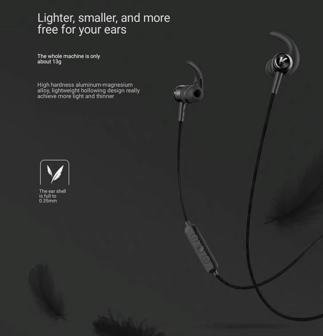 bluetooth headphone sport wireless running male and female binaural hanging ear to ear neck hanging neck magnetic
