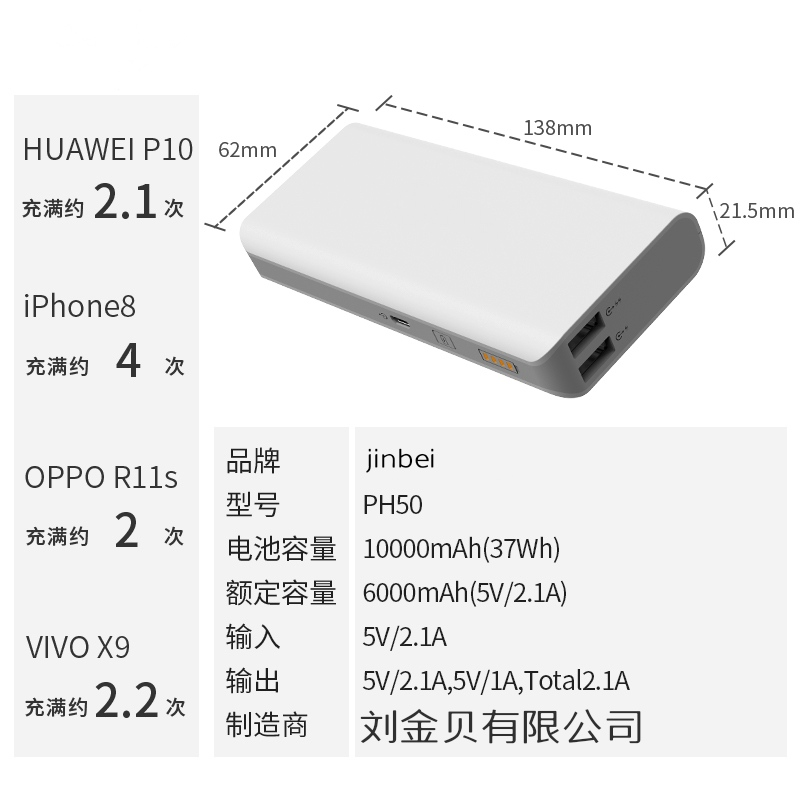 Jinbei sense4 10000 ma cute mini charger portable small youth creative super meng mobile power supply