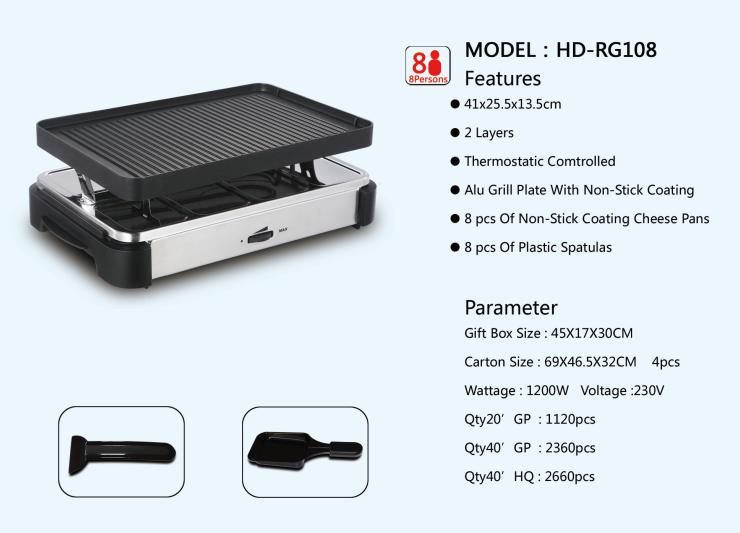 Barbecue grills electric Raclette grills